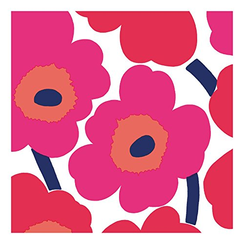 marimekko-finnish-designer-unikko-red-bright-big-floral-luxury-traditional-paper-table-napkins-20-in