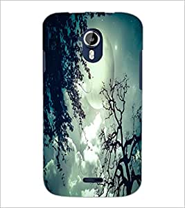PrintDhaba Moon D-2056 Back Case Cover for MICROMAX A116 CANVAS HD (Multi-Coloured)