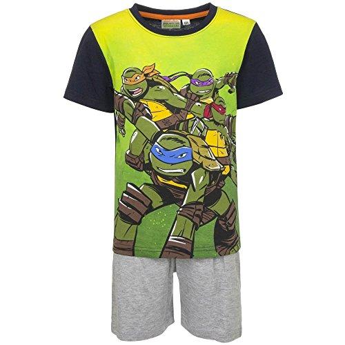 4531 Kinder Freizeitanzug 2-teilig T-Shirt u. Shorts MUTANT NINJA TURTLES Jungen (dunkelblau-grau, 116) (Ninja Turtle Hose)