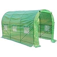 Homcom - Invernadero caseta 350 x 200 x 200 jardin terraza cultivo de plantas semilla