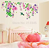 Neue Produkte Große Wandaufkleber Blume Bunte Petunia Home Decor Wall Decals Removable Wall Paper