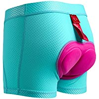 SANTIC Calzoncillos Ciclismo Mujer Pantalon Ciclismo Corto con Badana Ropa Interior para Mujeres