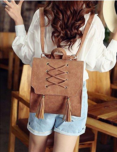 LAIDAYE Damen Schultertasche Rucksack Mode College Damen Tasche Tasche Tasche Brown