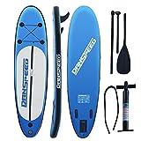MLJ Sup Board Stand up Paddling Surfboard Glider 305x75x15cm SUP Aufblasbare Boards Sets Für Outdoor-Sport-Surfen, mit Pumpe, Flossen und Reparatursatz Rucksack (Lieferungen aus Deutschland)