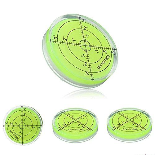 Acryl-Wasserwaage - Acryl-Grad-Markierungsmessgerät Set Gehäuse Oberflächenwaage Bullseye Phiole rund perfekt für Stativ und mehr Kit, gold