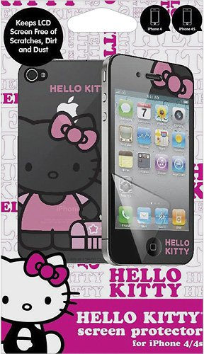 Hello Kitty HK-10898-IPH Screen Protector for iPhone with Mirror - 1 Pack - Retail Packaging - Pink 4s Mirror Screen Protector