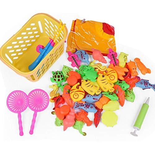 ung Magnetische Angeln Spielzeug Badespielzeug Wasserdicht Schwimmenden Fisch Spielsets Für Jungen Mädchen Kleinkinder Angeln Spiel Für Kinder Gastgeschenke 1 Satz (50 Stücke) ()