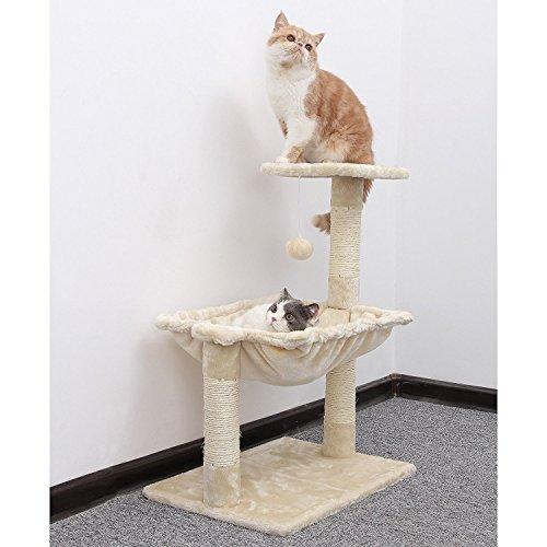 Albero per gatto con graffiatoio cuccia giocattolo gatti parco giochi tiragraffi in sisal naturale altezza 70 cm (garfield 30069)