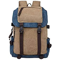 Emmala Canvas Laptop Camera Shoulder Bag Messenger School Backpack Practical Travel Unisex (Color : K+db)