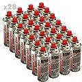 Pack 28Kartusche Gas Camper Gas 227g Butan–Flasche von Gas baillonnette 227g–Korbflasche mit für Kocher Camping