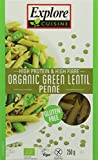 Explore Cuisine Organic Green Lentil Penne 250 g (Pack of 3)