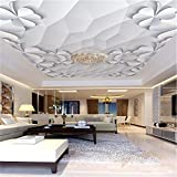 Steaean Le Plafond Fait sur Commande De Papier Peint De Mur De Thème D'Hôtel De Mur De Décoration De Mur De Plafond De Plafond A Gravé Le Luxe Moderne, 300 * 210Cm