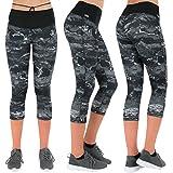 Formbelt Damen Tights 3 4 mit Hohem Bund und Bunten Marmor Design in XL