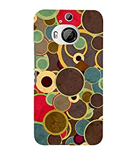 MULTI COLOURED CIRCULARE PATTERN 3D Hard Polycarbonate Designer Back Case Cover for HTC One M9+ :: HTC One M9 Plus