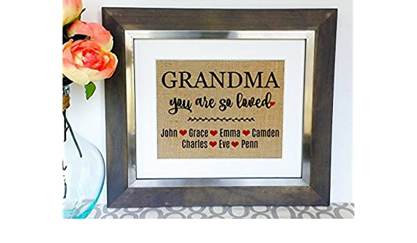 GRANDMA Birthday Gifts Gift For Grandma Grandmas Grandmother Presents From Kids Frame NOT Included Amazoncouk Kitchen