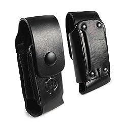 Personalisierte Echt Leder Holster Hülle Tasche Für Leatherman Wave LP650 Schwarz