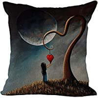 Dreamy Spirit World stampato cuscino in cotone lino throw Pillow case Sham forma Pillowslip Slipover (Giorno Chair Pad)