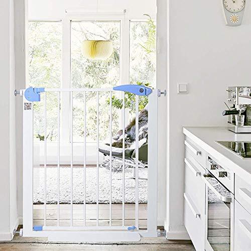 PNFP Baby-Tore Extra breites Baby-Tor for Treppengeländer, Metall-Pet-Dog-Tore mit begehbarer Tür, 75 bis 201 cm breit, 76 cm hoch, Größe: 85 bis 92 cm