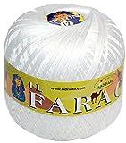 ADRIAFIL 4 GOMITOLI (1 kg) Cotone Uncinetto Bianco (Art.Faraone GR.250) (Titolo 16)