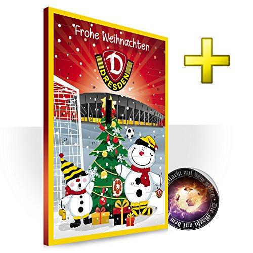 Preisvergleich Produktbild SG Dynamo Dresden Kalender,  Adventskalender,  Weihnachtskalender 2018 - Fairtrade-zertifiziert © plus Aufkleber die Macht aus dem Osten