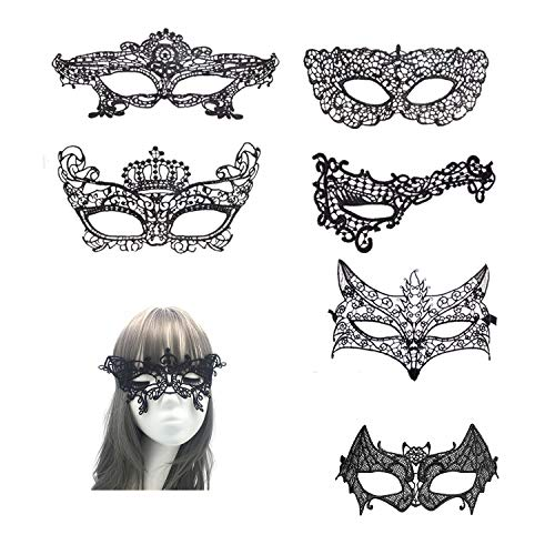 RXBC2011 7PCS Lace Ball Maske Sexy Half Lace -
