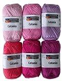 Schachenmayr Catania Wolle Set 7, 6x50 Gr., 100 % Baumwolle Pink Mix pompons selber machen DIY: Pompons selber machen – kostenlose Anleitung