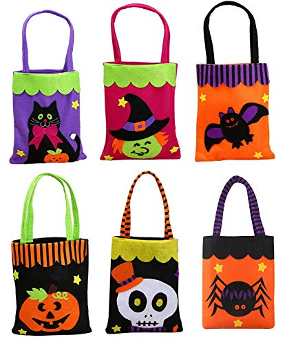 TBSDQLTEV 6 Pack Trick or Treat Taschen, Halloween -