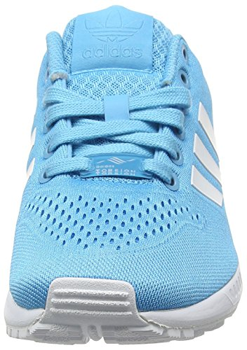 adidas Zx Flux Em, Chaussures de Running Entrainement Mixte Adulte Bleu (Bright Cyan/Ftwr White/Bright Cyan)