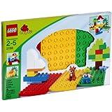 Lego Duplo 2198 - 3 Bauplatten - rot / grün / gelb