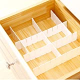 12 Pcs Plastic DIY Grid Drawer Divider Household Necessities Storage Thickening Housing Spacer for Home Tidy