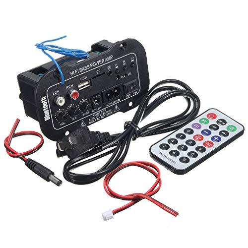 Luckiests 5-Zoll-220V Auto Bluetooth HiFi Bass-Endstufe Stereo Digital-Verstärker USB-TF und Fernbedienung