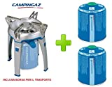 Hornillo para acampada y viaje, modelo Bivouac marca campingaz con bolsa para el transporte y 2cartuchos a gas, de 450gramos, cód. CV470
