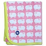 Schaf-Baby-Decke (Pink und Kartäuserkloster Grün)