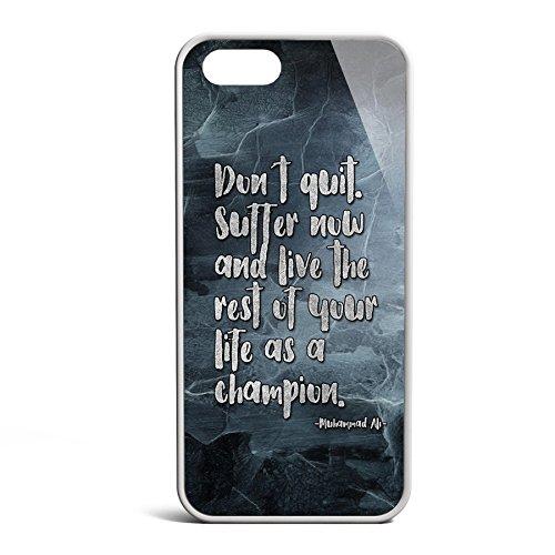 Smartcover Case Dont Quit z.B. für Iphone 5 / 5S, Iphone 6 / 6S, Samsung S6 und S6 EDGE mit griffigem Gummirand und coolem Print, Smartphone Hülle:Samsung S6 EDGE weiss Iphone 5 / 5S weiss