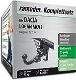 Rameder Komplettsatz, Anhängerkupplung abnehmbar + 13pol Elektrik für Dacia Logan MCV II (148249-11291-1)