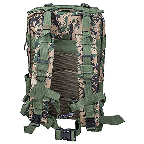 Sijueam US Assault Pack Small Rucksack ca. 25L(Minimum 8L) Jungle Farben