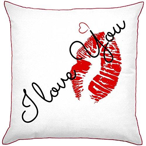 My Custom Style Kissen quadratisch Modell Valentinstag -die love you,kiss Kelche Wein 40x40cm,Seite...