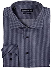 JACQUES BRITT Herren Hemd Langarm mit Muster Blue Label Slim Fit John 273320-016 Größen: 38 39 40 41