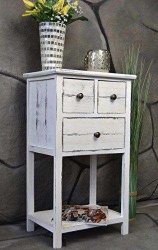 Livitat Kommode Telefontisch mit Schubladen Landhaus Chic Used Look Vintage 70 cm Höhe LV1025 (Shabby)