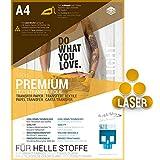SKULLPAPER A4 Transferfolie für HELLE Stoffe und Laserdrucker - inkl. 200+ Motive (20 Blatt)