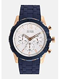 Guess Caliber White Dial Chronograph Men's Watch -W0864G5
