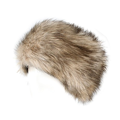 ellmütze Pelzmütze Wintermütze Stirnband Faux Fuchs Pelz Warm Weich Damenmütze Fliegermütze (Russische Faux Pelz Hut)