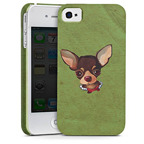 Apple iPhone X Silikon Hülle Case Schutzhülle Chihuahua Hund Dog Premium Case glänzend