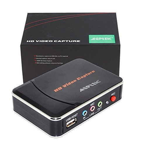 AGPtek [EU plug] HD Game Capture HD video capture 1080P HDMI/YPBPR Recorder for Xbox 360&One/ PS3 PS4