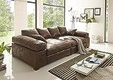 Reboz Big Sofa Vintage in verschiedenen Farben schwarz Hellbraun Dunkelbraun Megasofa (Vintage Hellbraun)
