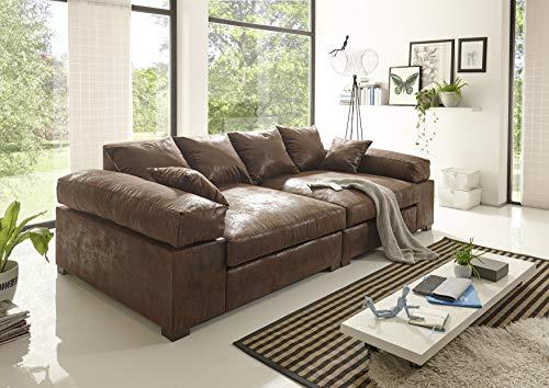 Reboz Big Sofa Vintage in Verschiedenen Farben schwarz Hellbraun Dunkelbraun Megasofa