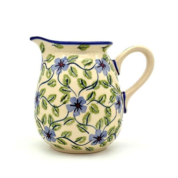 Bunzlauer Keramik Manufaktura Hand-Decorated Polish Pottery Milk Jug 400ml Dekor Tabea