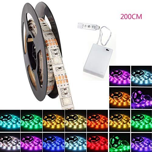 LED Streifen Strip, GLISTENY Flexible Lichter Band Leiste RGB 5050 SMD Lichtschlauch Wasserdicht...