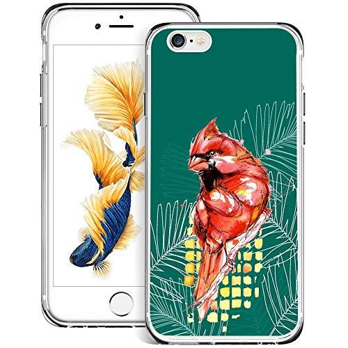 Custodia per iPhone 6s 6, design sottile e flessibile, con stampa a righe zebrate, antiurto, in morbido TPU e gomma, custodia protettiva per iPhone 6s 6-trasparente iphone 6 6s Parrot