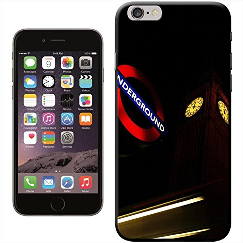 Fancy A Snuggle Coque rigide pour iPhone Motif Londres Big Ben e segnale metropolitana